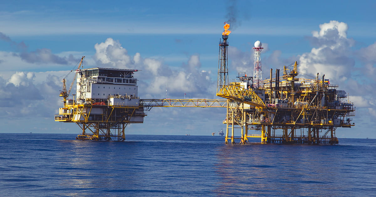 A natural oil and gas production in sea