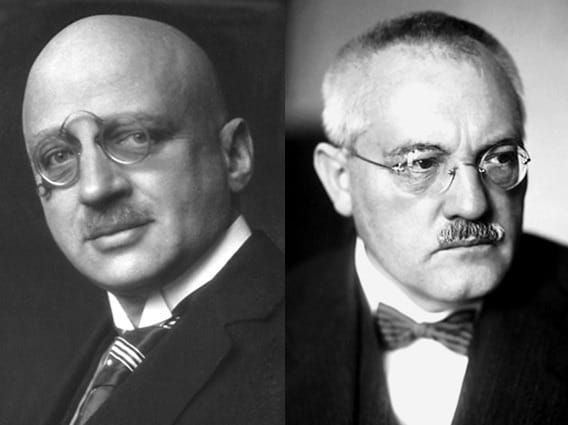 Fritz Haber left and Carl Bosch right