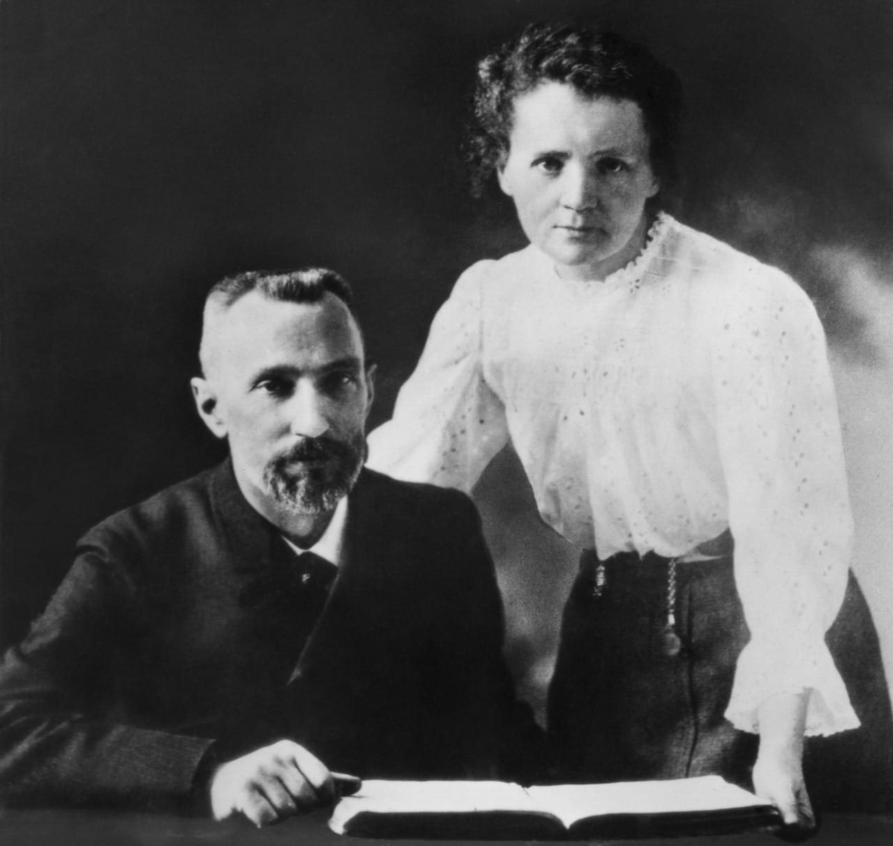 Marie Sklodowska and her future husband Pierre Curie
