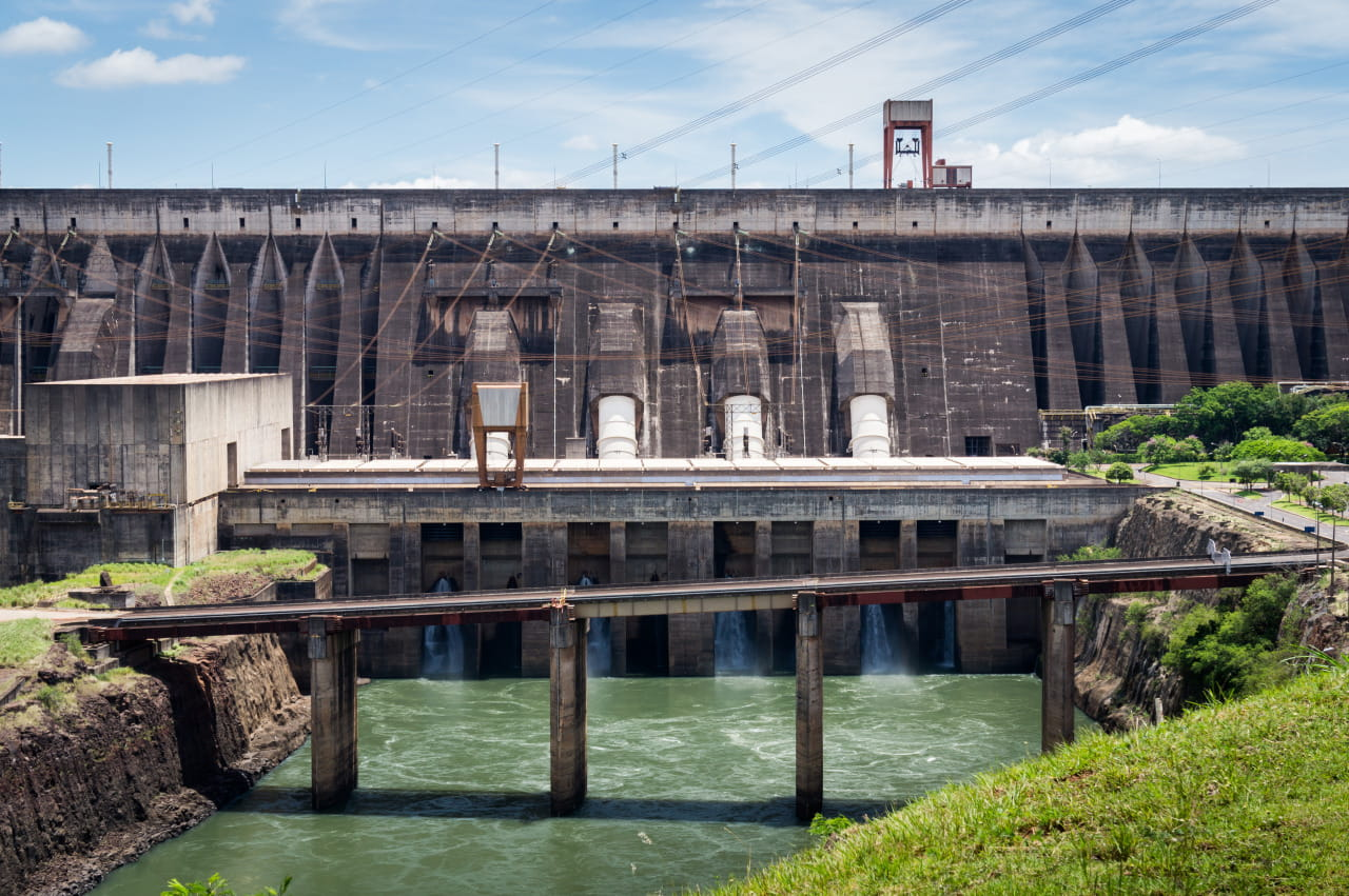 The Itaipu hydroelectric dam