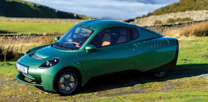 The Riversimple Rasa hydrogen-powered car