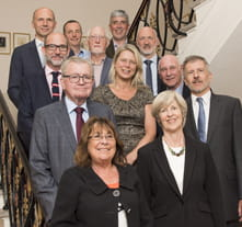 The outgoing Board of Trustees