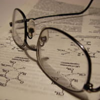 glasses and notes