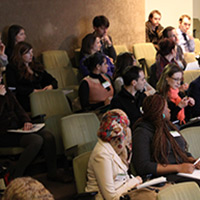 day of careers and science delegates in the auditorium