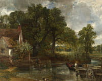 Constable's The Hay Wain (detail)