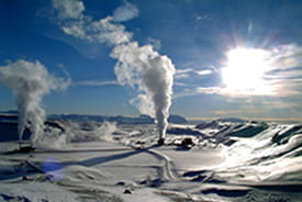 Krafler geothermal power station, Iceland.
