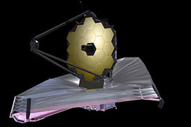 The James Webb telescope. Credit: NASA
