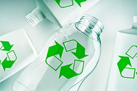 recyclable plastic bottles