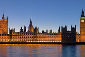 The Palace of Westminster, UK.