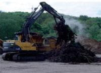 Delivery and handling of the green waste