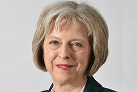Theresa May, Prime Minister of the UK.