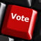 Red Voting Key on Keyboard
