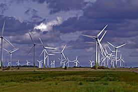 An onshore wind farm