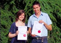 Oral paper prize winners Helen Greatrex and Robin Blake