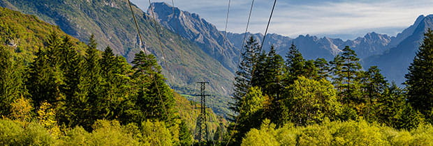 SCI PoliSCI newsletter 13th October 2020 - image of powerlines in the alps