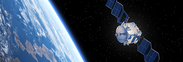 SCI PoliSCI newsletter 24 November 2020 - image of a satellite in space with earth in the background