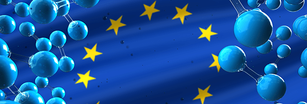 SCI PoliSCI newsletter 15 December 2020 - graphic of hydrogen molecules on EU flag