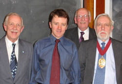 Mr Colin Chapman, Dr Joseph McCarney, Raymond Holland and Dr Ian Donaldson
