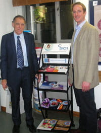 Fred Parrett and Simon Banks with display stand