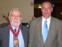 The new Chair of the group, Ian Donaldson, sports the Chair's medallion, last worn by immediate past Chair Stuart Shales (right).