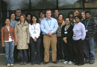 Dr Leon Terry and Cranfield students