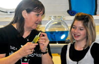SCI Award winner Sue Halliday – spreading the word at a Saturday Science Club