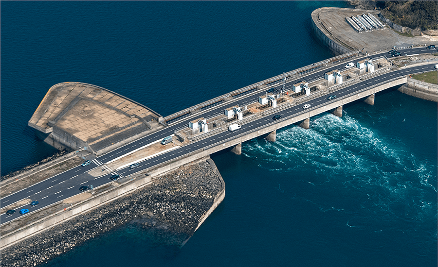 SCIblog - 23rd February 2021 - Blue Economy - image of aerial view tidal power plant