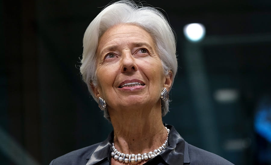 SCIblog 9 February 2021 - Davos 2021 - image of Christine Lagarde