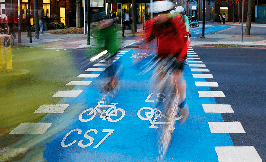 SCIblog 15 March 2021 - Transform your city: how to become cycle-friendly - image of London cycling network