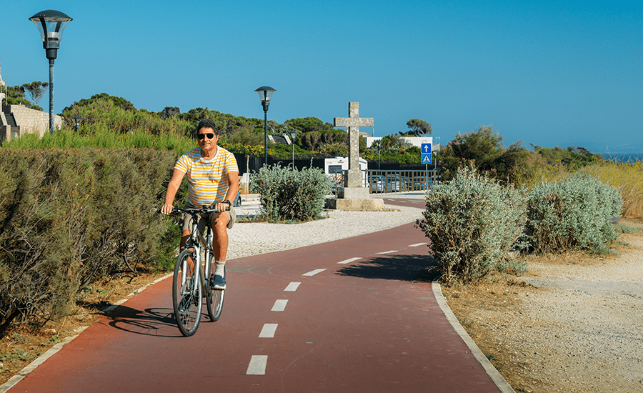 SCIblog 15 March 2021 - Transform your city: how to become cycle-friendly - image of Segregated cycleways in Portugal