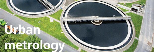 Aerial view of sewage plant