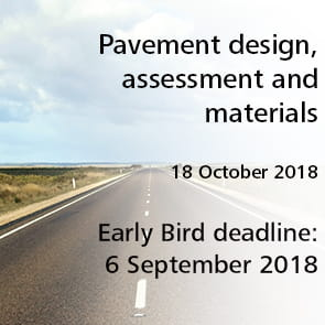 Pavement design, assessment and materials Thursday 18 October 2018