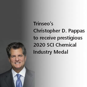 Trinseo's Christopher D. Pappas to Receive Prestigious 2020 SCI Chemical Industry Medal