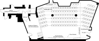 Floor Plan Auditorium