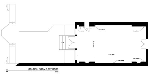 Council Room and Terrace Plan