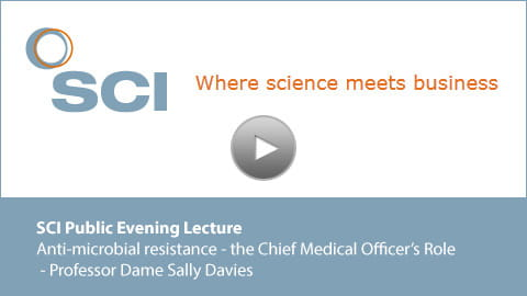 holding slide for Dame Sally lecture video