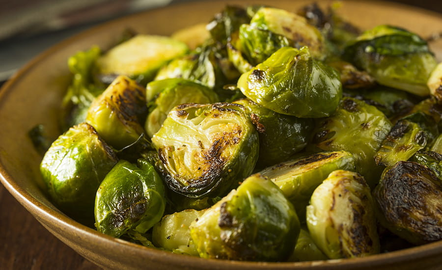SCIblog 19 April 2021 - How thirsty is your food? - image of a bowl of roasted brussel sprouts